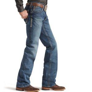 Ariat FR m4 work low rise boot cut denim jeans